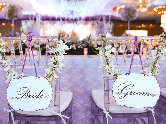 detalle sillas boda rústica