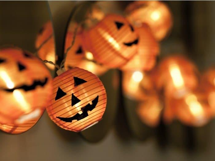 como hacer adornos para halloween luces