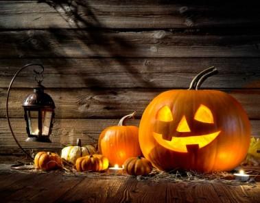 decoración para halloween calabazas