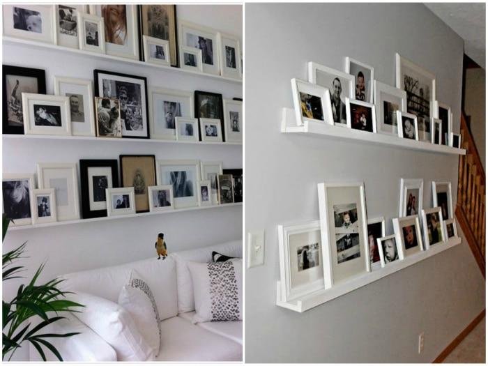 Enmarcar y colocar fotos diferente