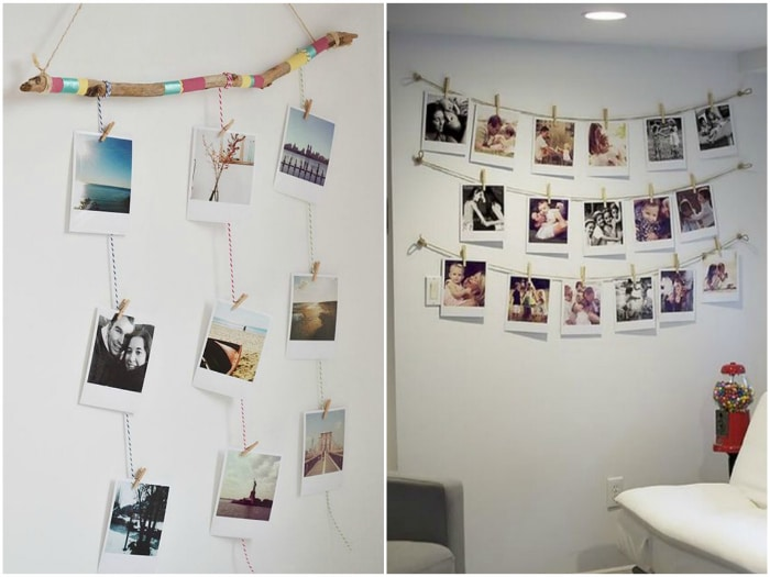 Ideas creativas y originales para enmarcar y colocar fotos - Ideas fotos pared ...