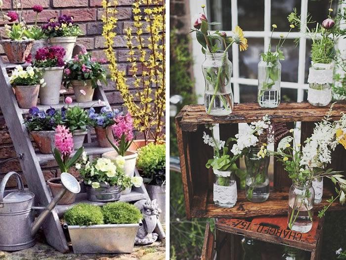 jardinera decoración primavera