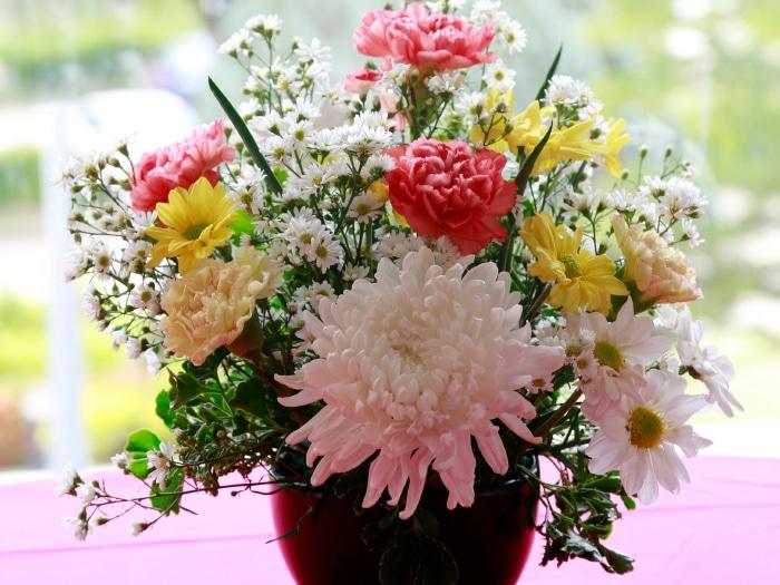 Arreglo jarrón flores