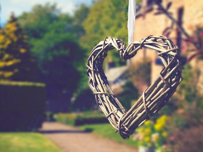 Corazón detalle colgado