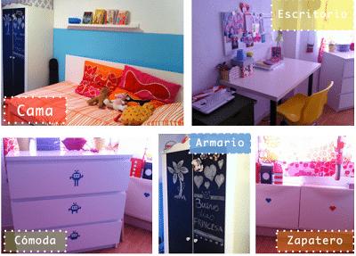 Ideas para decorar habitación de niña