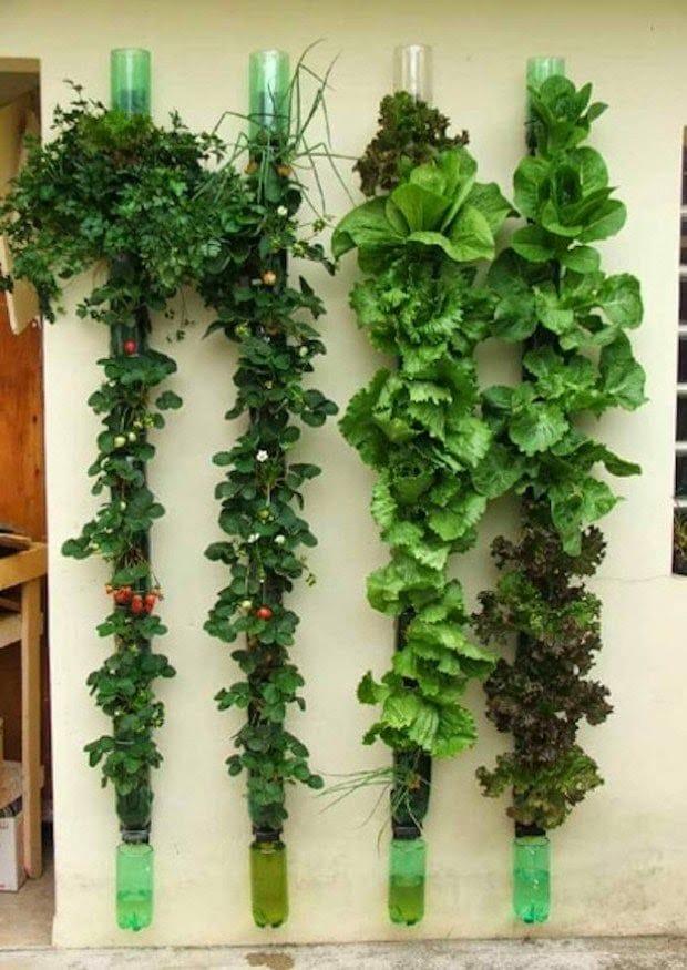 20 ideas sorprendentes para hacer jardines verticales en - Macetas para jardin vertical ...