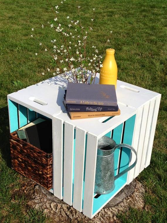 Cajas de madera recicladas 17 ideas para inspirarte - Cajones de fruta de madera ...
