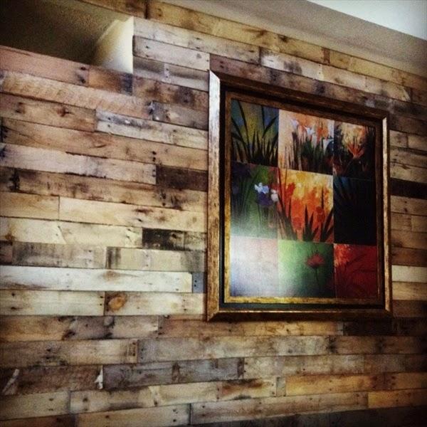 Palets formas ingeniosas de reutilizarlos decoracion en for Ideas para revestir paredes
