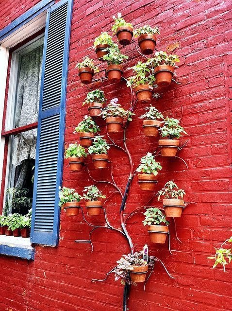 20 ideas sorprendentes para hacer jardines verticales en for Estructuras para viveros plantas
