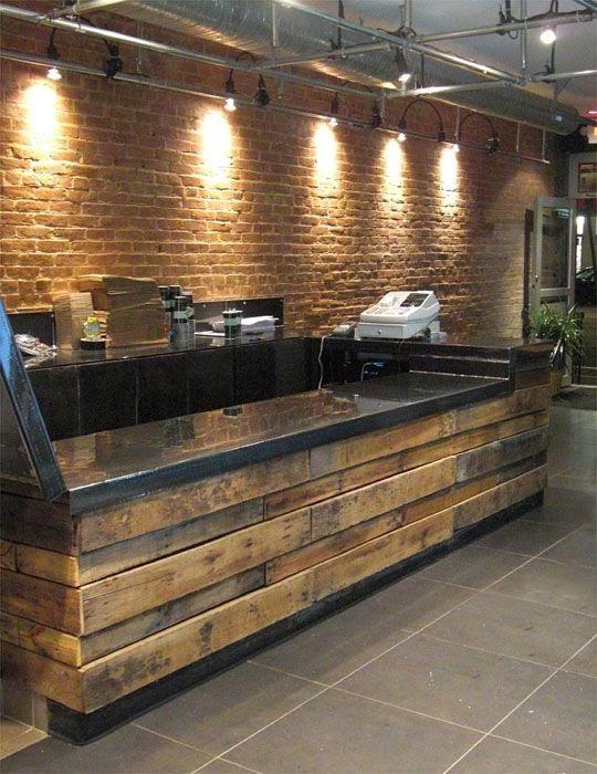 Palets formas ingeniosas de reutilizarlos decoracion en for Fabricacion de bares de madera