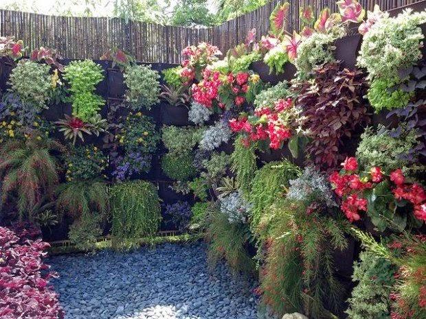 20 ideas sorprendentes para hacer jardines verticales en Jardines verticales para patios pequenos