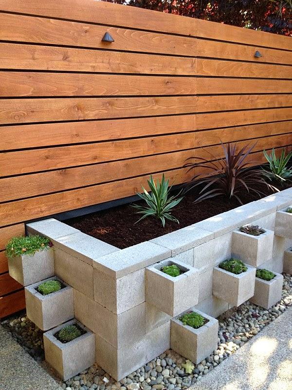 Ideas para decorar con bloques de hormig n decoracion en - Bloques para muros ...