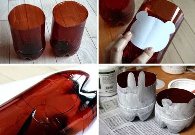 : Decora tu casa con botellas de plástico - Decoracion en el hogar