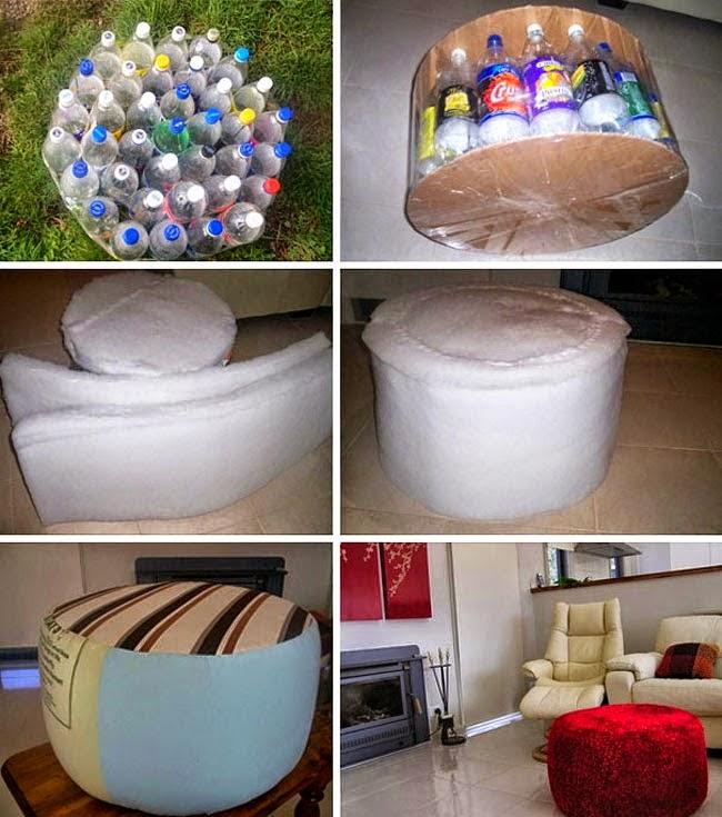 Ideas para decorar reciclando decora tu casa con botellas for Casas plasticas para ninos