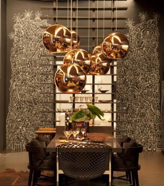 otra forma de utilizar el cobre en la decoracin de la casa es revistiendo nuestras paredes del mismo color para dar un toque rstico y elegante a la sala