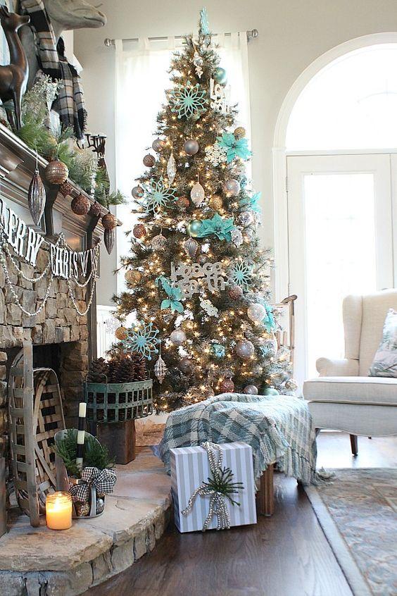Como decorar un salon en navidad saln con vistas al - Como decorar un salon para navidad ...