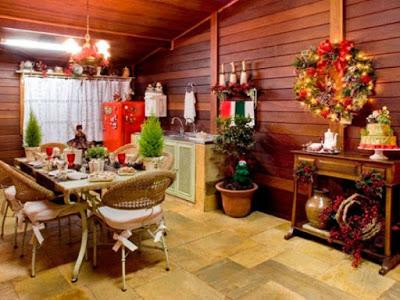 Ideas para decorar la cocina en navidad decoracion en el - Como decorar en navidad ...