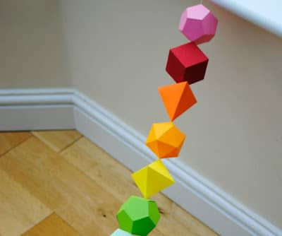 guirnaldas papel formas