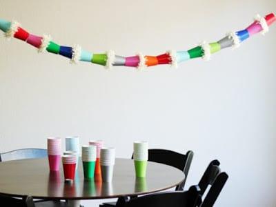 guirnaldas papel vasos