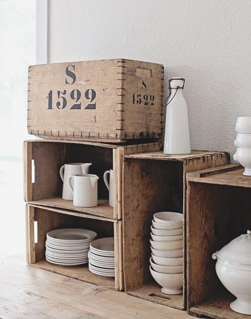 17 ideas de cajones reciclados para decorar tu casa. Black Bedroom Furniture Sets. Home Design Ideas