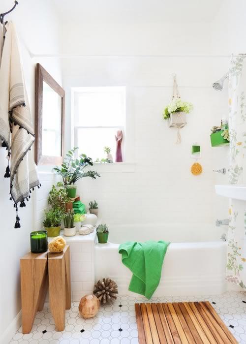 Ideas para decorar con plantas: el baño