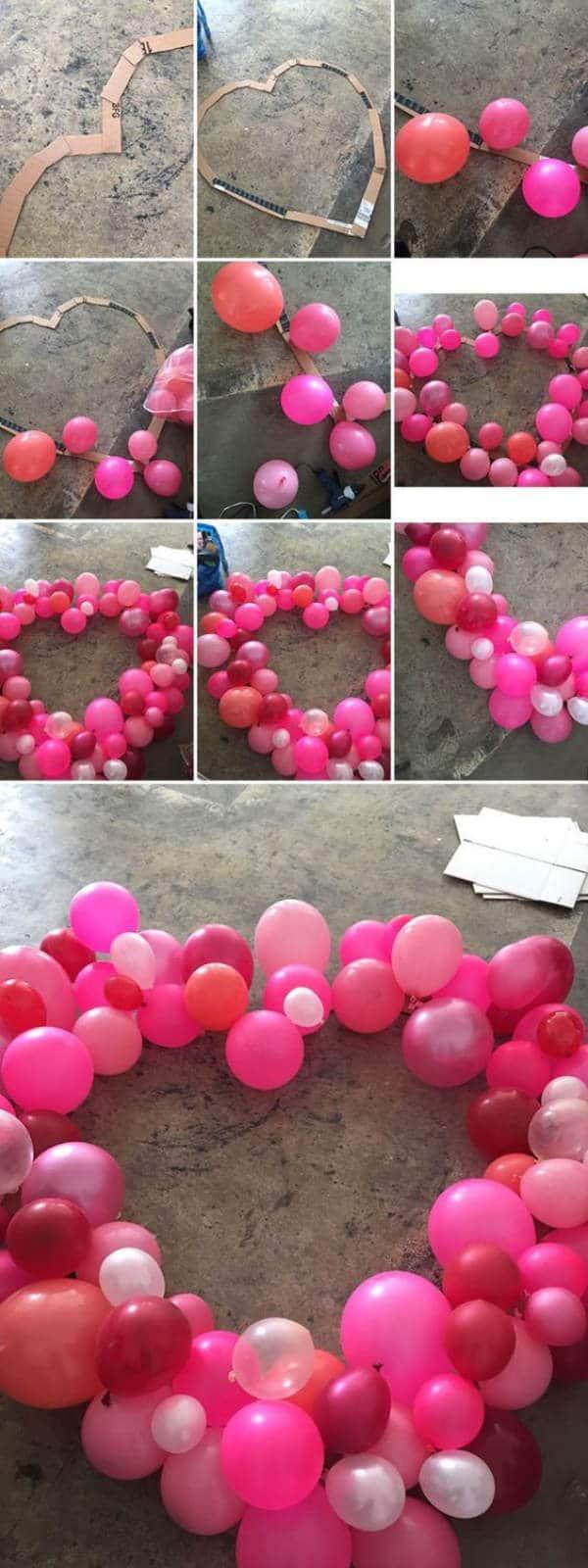 Coraz n de globos para san valent n - Decorar para san valentin ...
