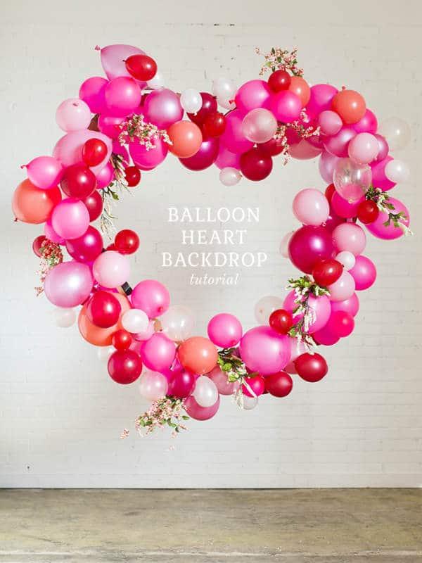 Corazón de globos para San Valentín