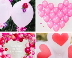 Ideas fáicles para decorar con globos San Valentín
