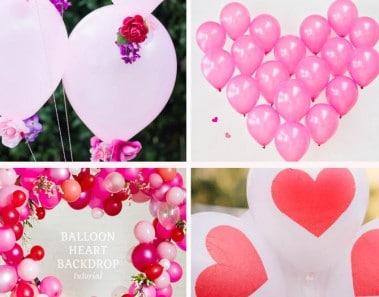 Ideas fáicles para decorar con globos San Valentín
