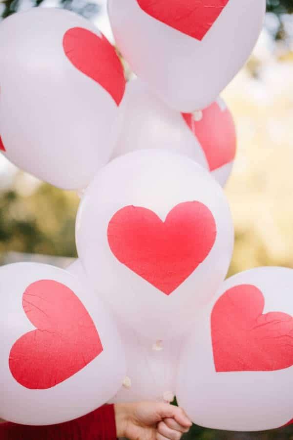 San Valentín: decoración globos