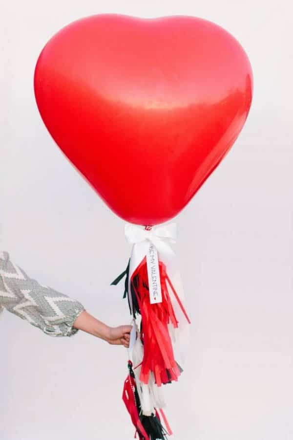 San Valentín: decoración con globos