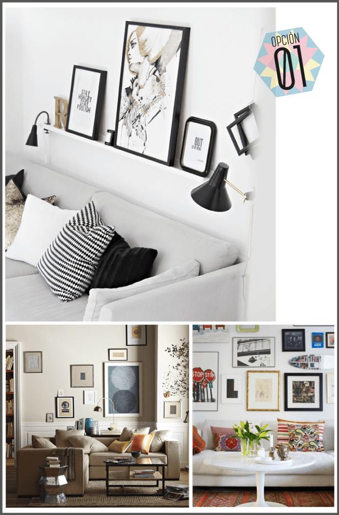 Ideas para aprovechar los espacios detr s del sof - Mueble detras sofa ...