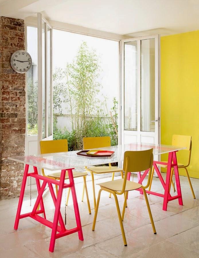 Cl sico electrizante con colores fluor interiorismo for Curso interiorismo gratis