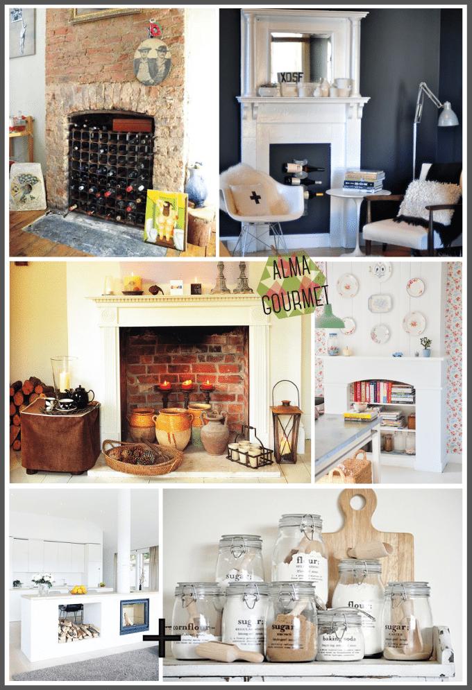 Cómo decorar el interior de las chimeneas - Interiorismo