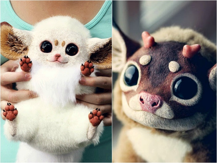 Peluches hiperrealistas animales