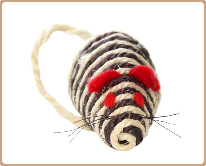 Ratón de cuerda para gatos