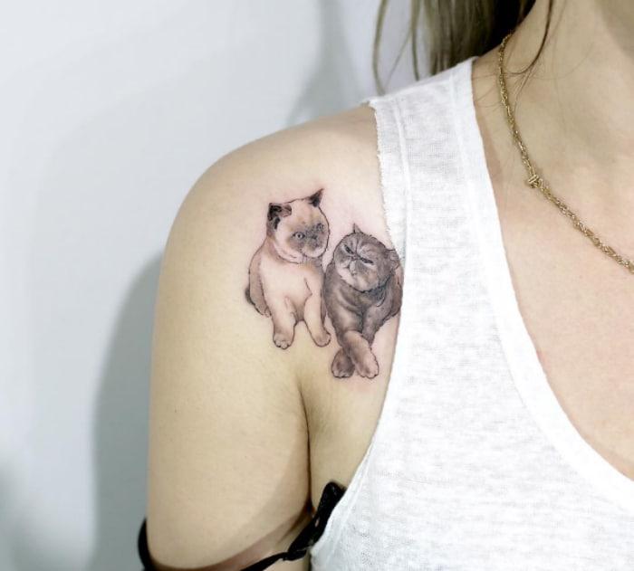 Gatitos tatuaje