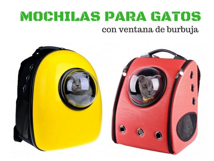 U-pet mochilas burbuja para gatos