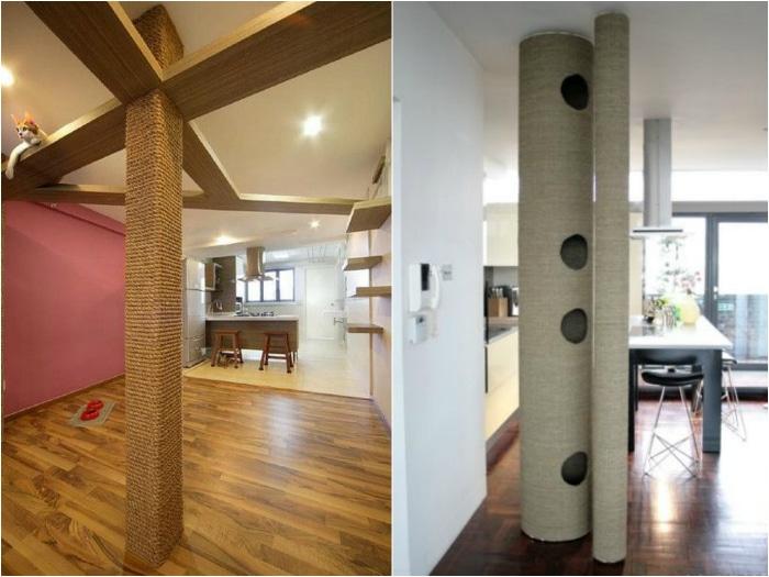 Rascadores originales gatos columnas