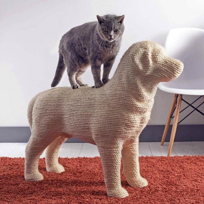 rascadores originales gatos forma de perro
