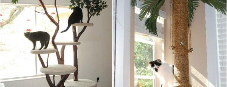 Rascadores elegantes y originales gatos