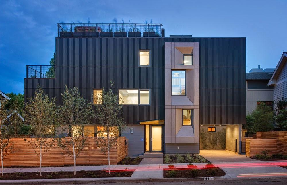 Muyo compacto (sólo 185,8 metros cuadrados), albergan una colección de espacios en los que la temperatura del aire interior promedio de 21º C es de fácil