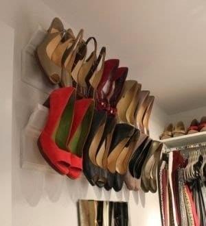 Nice Utilizar Lejas Con Moldura Para Almacenar Zapatos Con Tacones