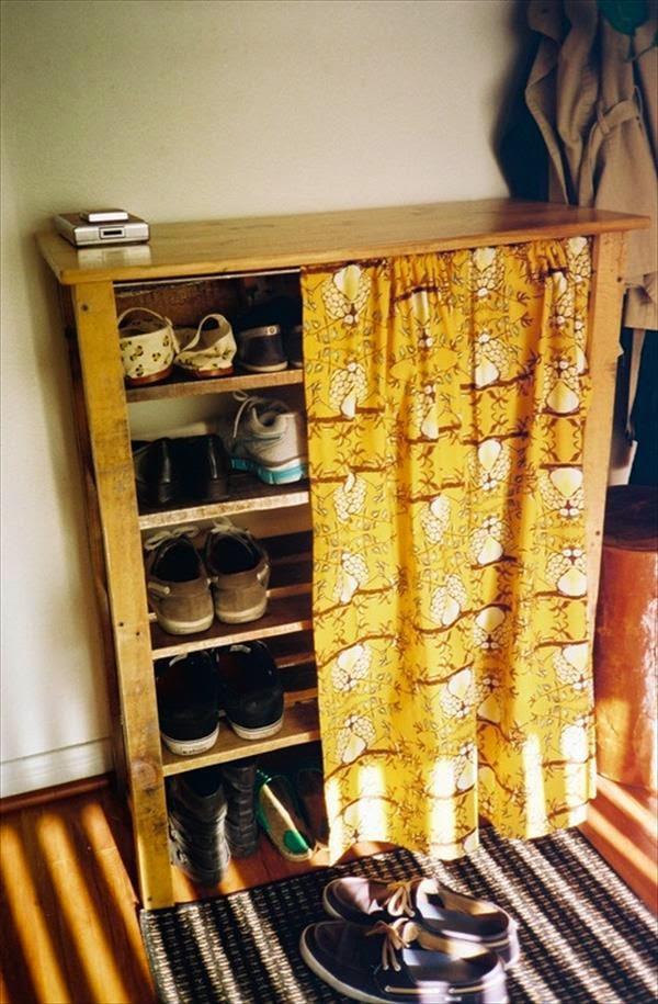 Piezas Inspiradoras De Mobiliario Reciclado Hecho Con Pallets - Cortinas-para-muebles
