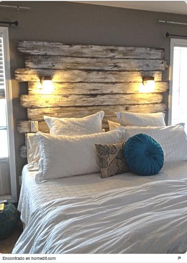 34 ideas de cabeceros de cama originales que puedes hacer for Cabeceros de cama originales