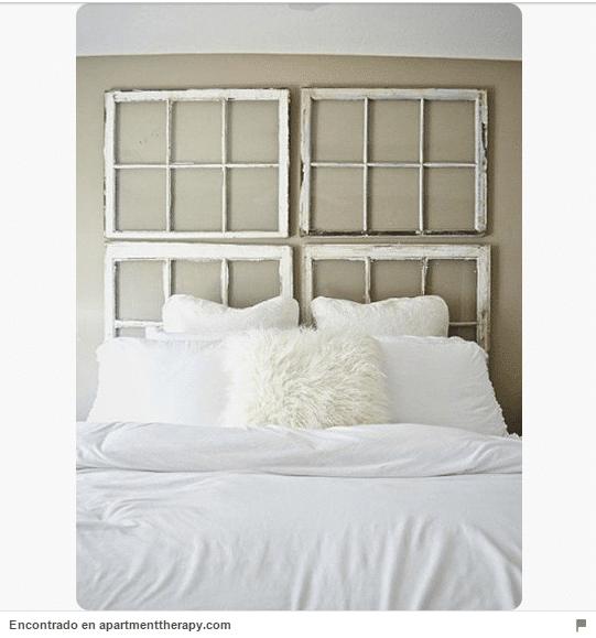 34 ideas de cabeceros de cama originales que puedes hacer for Muebles super baratos