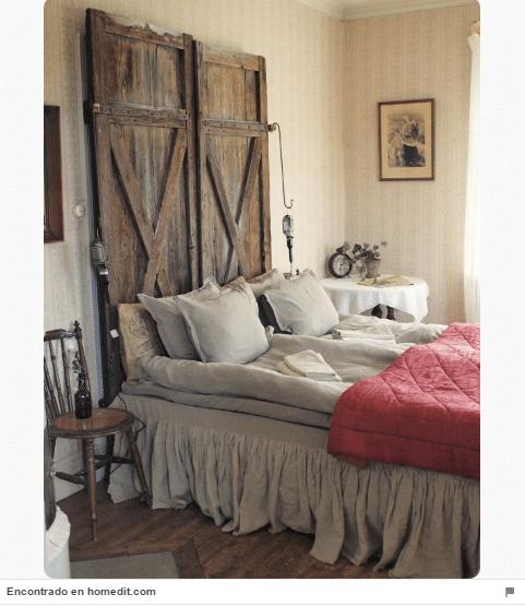 34 ideas de cabeceros de cama originales que puedes hacer for Papel pintado para puertas