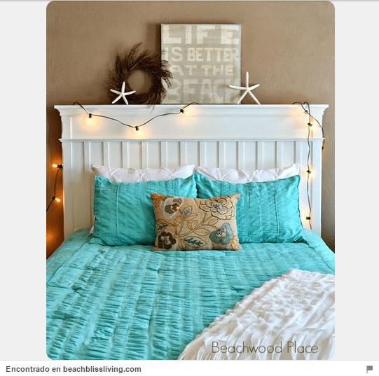 34 ideas de cabeceros de cama originales que puedes hacer - Cabecero de tablas ...