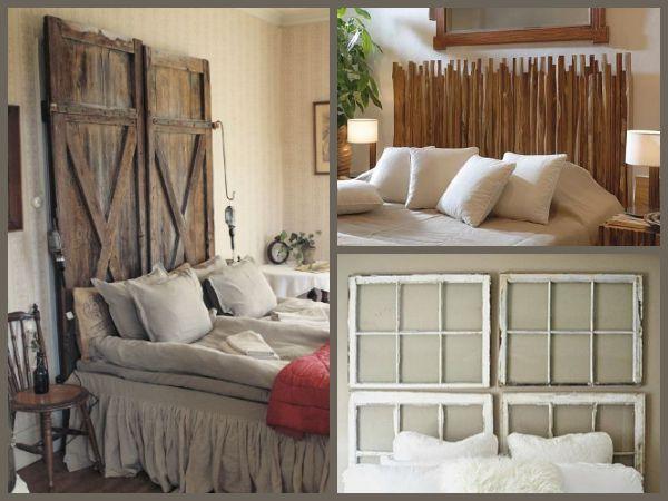 34 ideas de cabeceros de cama originales que puedes hacer - Hacer cabecero cama barato ...