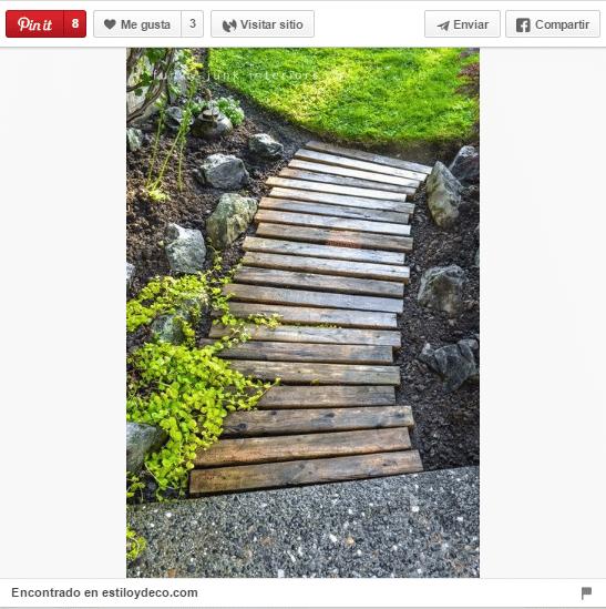18 ideas para decorar espacios exteriores con palets for Bricolaje para jardin